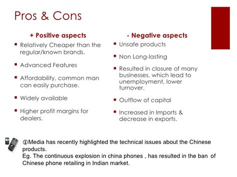 unemployment pros and cons impact of chinese goods on indian economy
