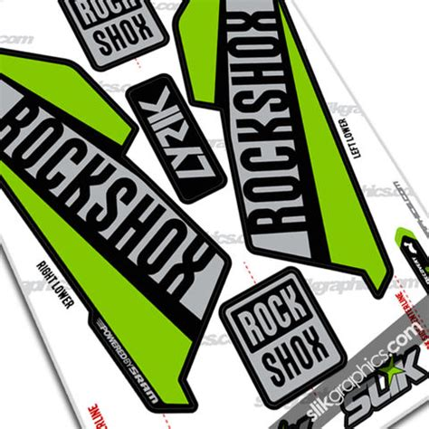 Rock Shox Logo Stickers by Fork Decals Rockshox Collection Slik Graphics