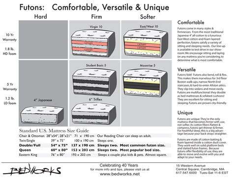futon mattress sizes futon mattresses