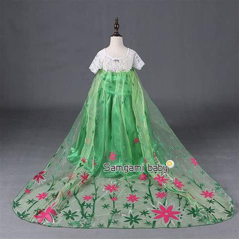 Dress Frozen Sayap Panjang jual gaun elsa green sayap panjang dress baju