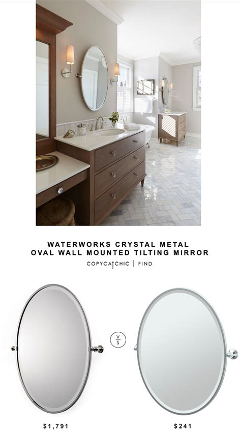 wall mounted tilting bathroom mirrors gatco tiara oval tilting bathroom mirror copy cat chic