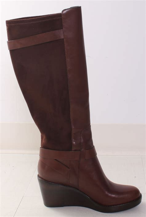 cole haan fulton wedge boot in chestnut brown 6 ebay