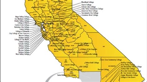 map of colleges in southern california california community colleges map california map