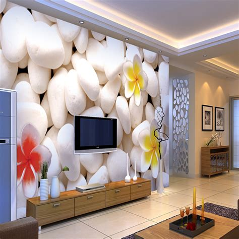 Living Room Mural Wallpaper by Aliexpress Buy 3d Modern Large Cobblestone Wall