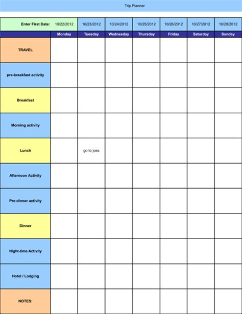 Planning Schedule Template Excel by Schedule Template For Free Formtemplate