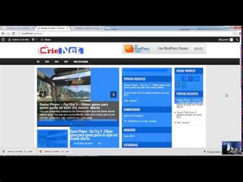 layout youtube wordpress curso wp 2014 editando layout do site wordpress via html