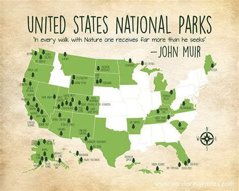 national parks in united states map national parks map custom colors united states map with