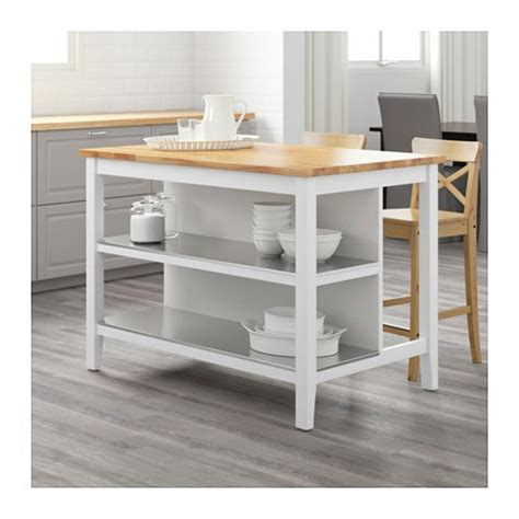 stenstorp kitchen island white oak 126x79 cm ikea