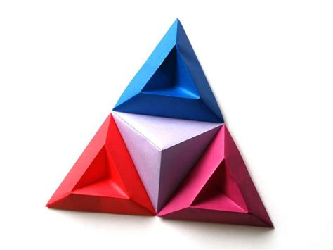 How To Make An Origami Pyramid - origami triangle pyramid www pixshark images