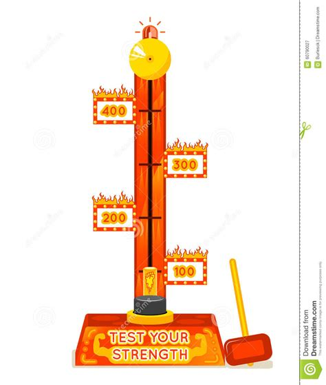 test your strength tester test your strength amusement stock