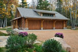 Country Garage Designs inspiring log homes with garages plans using barn style garage doors
