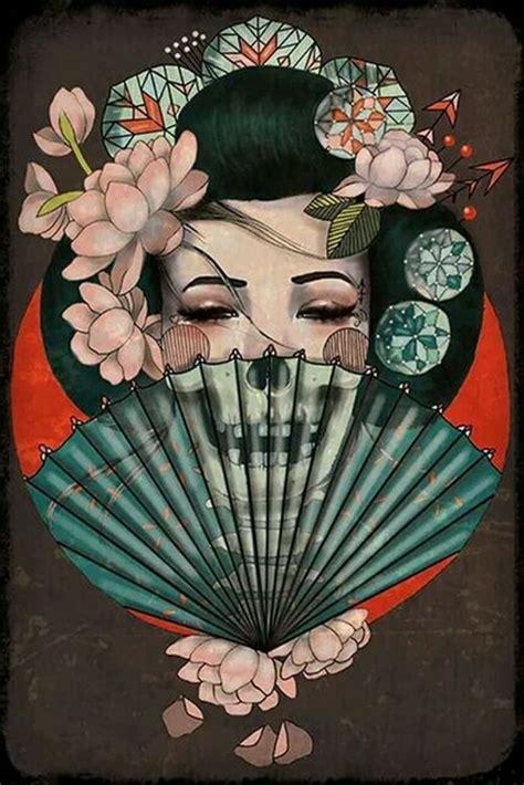 japanese geisha tattoo tumblr 日本艺妓纹身手稿欣赏第7页