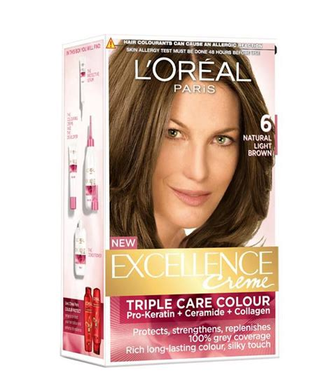 loreal excellence hair color in l oreal excellence hair color 6 light brown