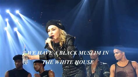 black muslim in the white house barack obama madonna says we have a black muslim in the white house sept 24