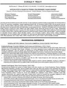 Manufacturing Engineer Resume by 36 Winning Engineering Resume Sles That You Must See Vntask