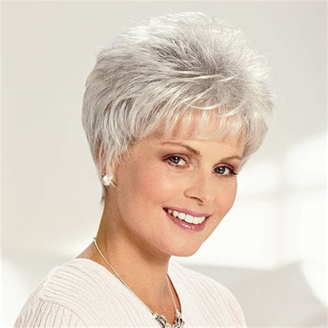 frosted grey hair cancer patients wigs chemo wigs gray wigs short wigs