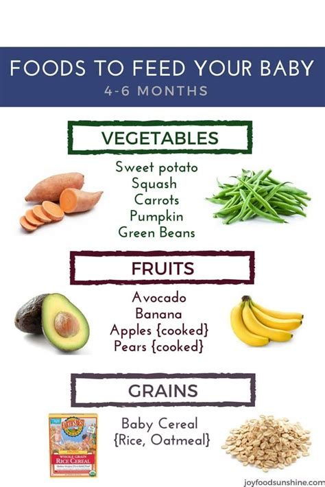 vegetables 6 month baby solid foods to feed your baby 4 to 6 months brayden