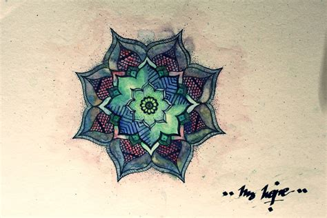 watercolor tattoos mandala