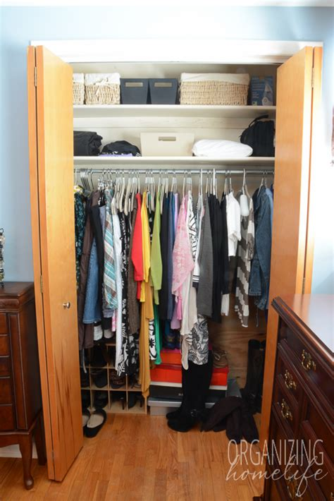 Organizing Master Bedroom Closet by Master Bedroom Closet Disorganization And The Solution Organizing Homelife