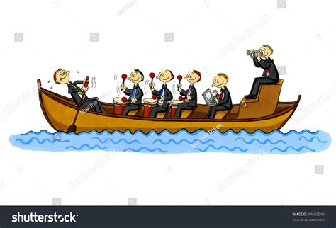row boat en francais funny cartoon rowboat single rowing employee stock