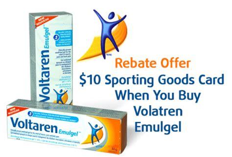 sporting goods rebate volataren emulgel rebate offer get a 10 sporting goods