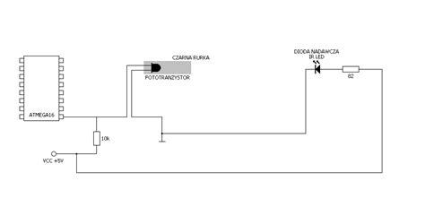 dioda ir kraków atmega16 i fototranzystor i dioda nadawcza ir elektroda pl