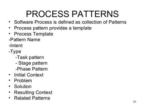 process pattern software engineering unit1