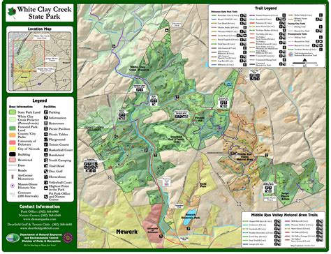 creek state park trail map white clay creek state park philly day hiker