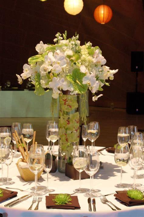 green reception wedding flowers, wedding decor, wedding