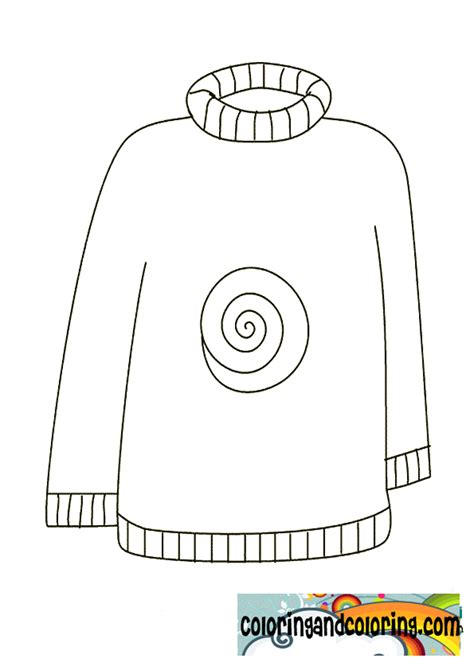 Sweater Coloring Page Www Imgkid Com The Image Kid Has It Sweater Coloring Page