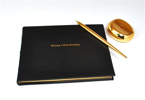 Stocking Stuffers For Her by Library Bound Genuine Leather Guest Book From Blue Sky Papers