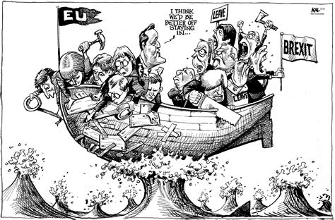 cartoon brexit boat cartoons best of 2016 politico