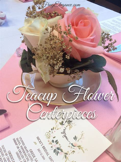 simple bridal shower centerpiece ideas easy diy teacup table centerpieces frugelegance