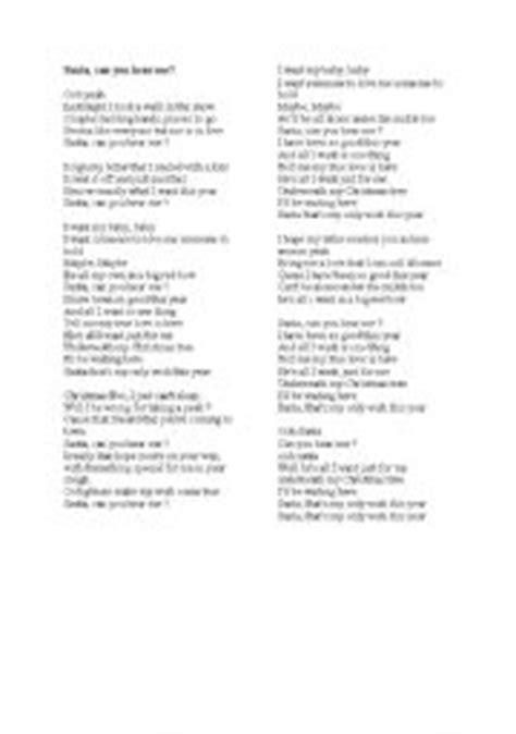 printable lyrics last christmas wham english teaching worksheets christmas