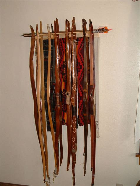 Archery Rack by Traditional Bow Rack Holds 16 Bows Ebay