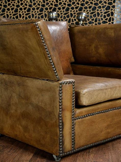 leather knole sofa antique french leather knole sofa and chair at 1stdibs