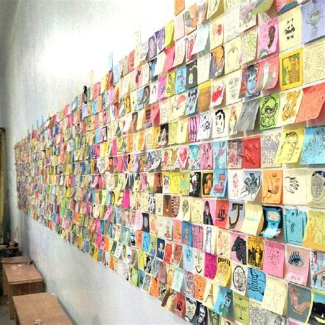 10 creative card display ideas delightfully noted 25 post it note diy ideas