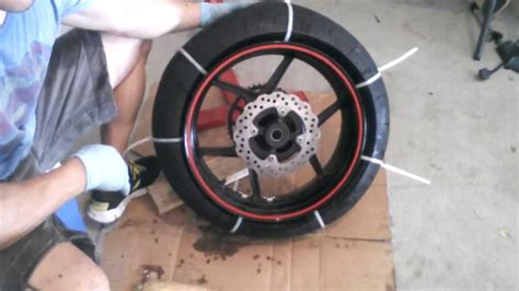 motorcycle tire removal from zip tie method 2007
