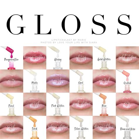 color gloss lipsense gloss options to seal in color and hydrate