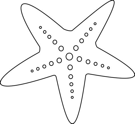 template of starfish cancer clipart sea pencil and in color cancer clipart sea
