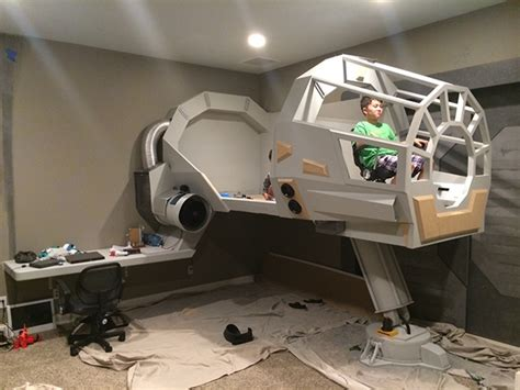 millenium falcon bed the best bedrooms have a millennium falcon cockpit nerdist