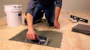 Tiling A Floor Where To Start Rona How To Lay Floor Tiles Youtube