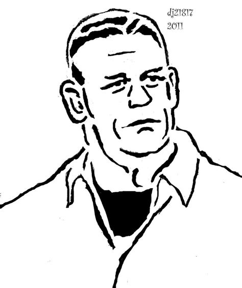 John Cena Coloring Pages Printable Wwe John Cena Coloring Cena Coloring Pages To Print