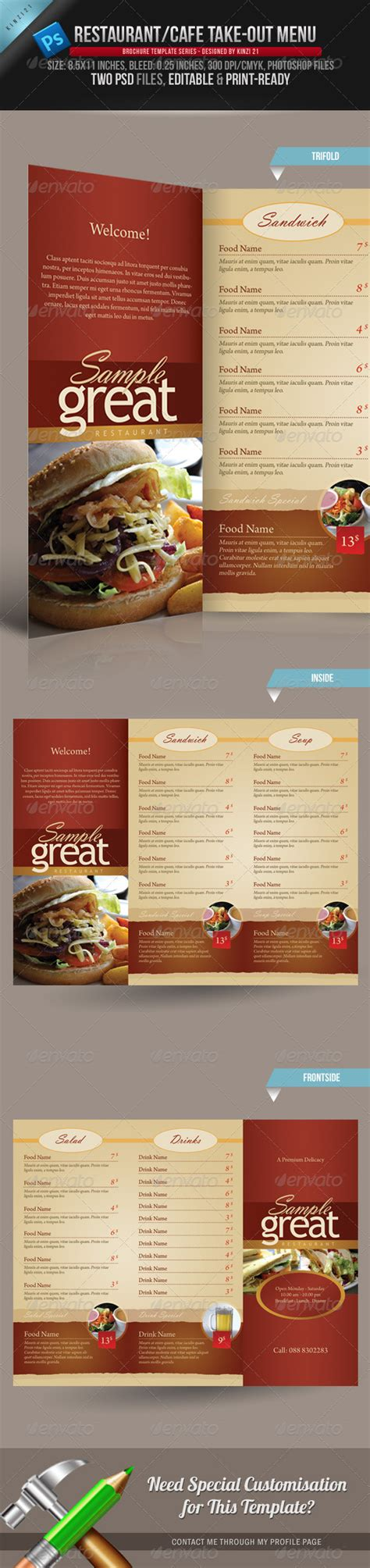 50 food menu designs for hotels and restaurants