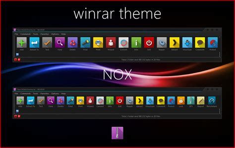 download themes windows 7 rar nox winrar theme by alexgal23 on deviantart