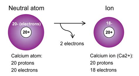 Protons And Electrons In Ions by Calcium Atom And Ion 171 Kaiserscience