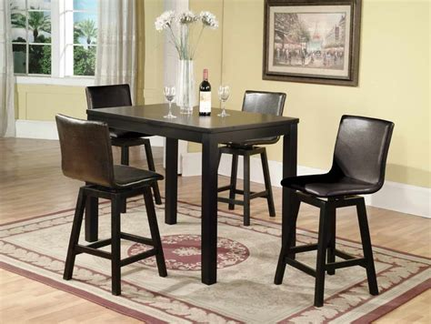 Black Counter Height Dining Table And Chairs Modern Dining Room Design With Comfortable Black Counter Height Kitchen Tables Black Leather