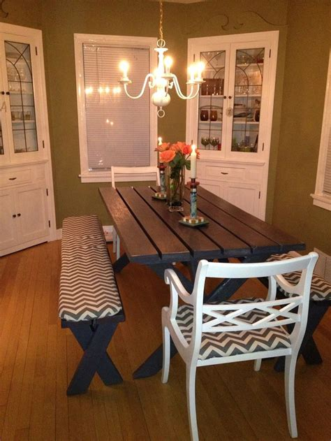 picnic dining room table refurbished from an beat up picnic table to a chic