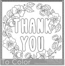 thank you coloring pages thank you printable coloring page for adults pdf jpg