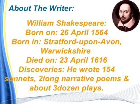 shakespeare biography for students william shakespeare poems about life websitereports12